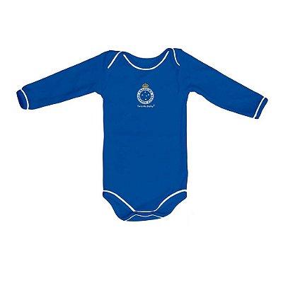 Body Cruzeiro Manga Longa Azul Oficial
