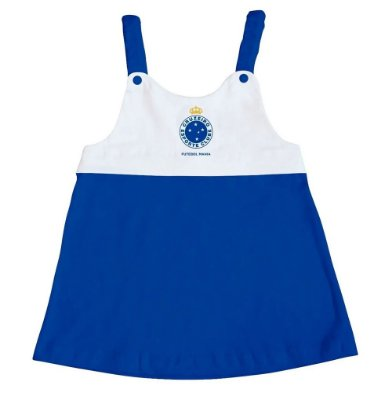 Vestido Infantil Cruzeiro Com Alça - Torcida Baby