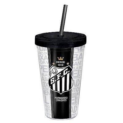 Copo com Canudo Santos FC 450ml Oficial