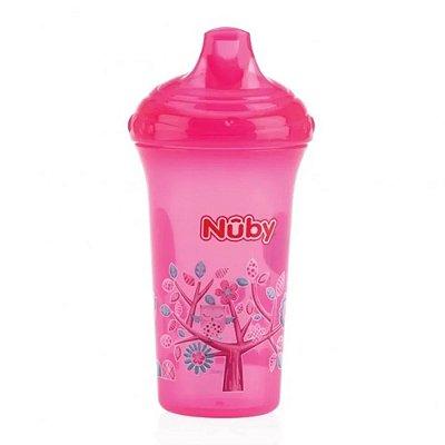 Copo Infantil Com Bico Rígido Rosa 270ml Nuby