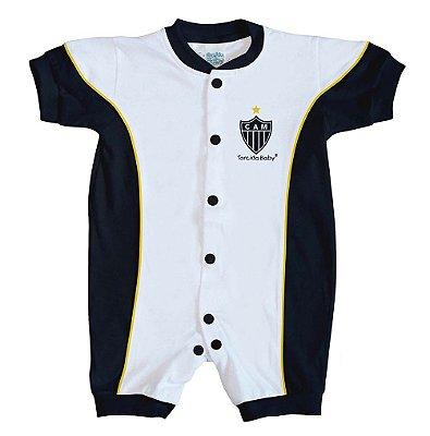 Macacão Bebê Atlético MG Curto Torcida Baby