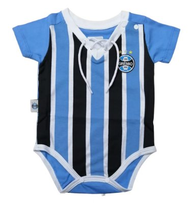 Body Bebê Grêmio Retrô Tricolor Oficial