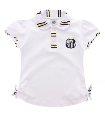 Camisa Polo Infantil Santos Feminina Oficial