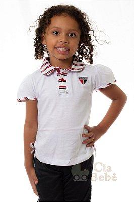 Camisa Polo Infantil São Paulo Feminina Oficial