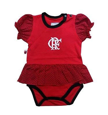 Body Vestido Flamengo Bolinhas Oficial