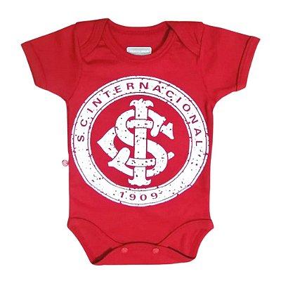 Body Bebê Internacional Vermelho Escudo Oficial