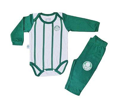 Conjunto Bebê Palmeiras Body e Calça Oficial