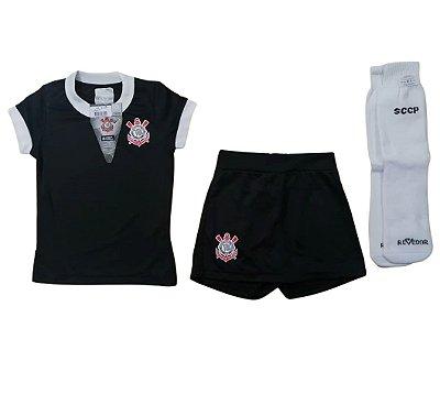 Uniforme Infantil Corinthians Artilheira Feminino Oficial