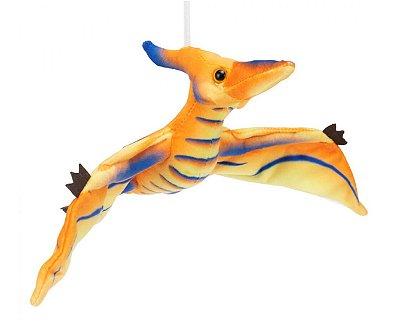 Pelúcia Dinossauro Laranja Pterodáctilo 41cm