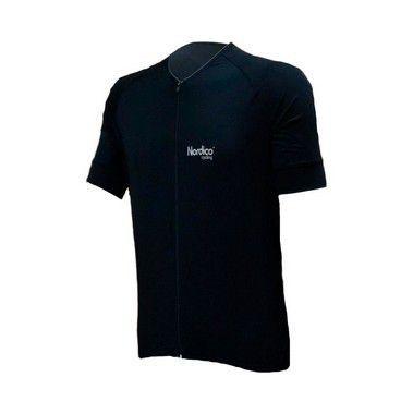 camisa ciclismo black com faixa refletiva ref 439 c6