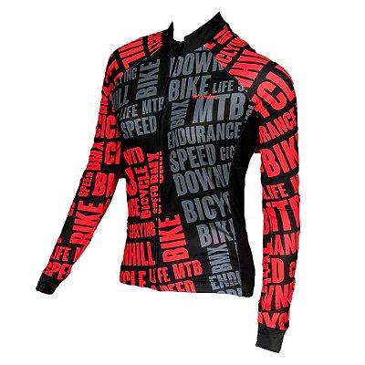 camisa ciclismo feminino manga longa Bikelove ref 1274 c2