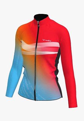 Camisa ciclismo feminino manga longa Califórnia ref 1340 c2