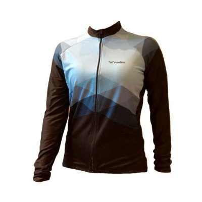 Camisa ciclismo feminino manga longa nordico aqua marine ref 1161 c2