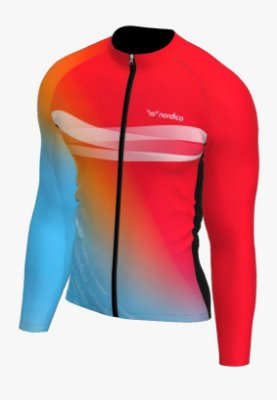 Camisa ciclismo manga longa Califórnia ref 1337 c8