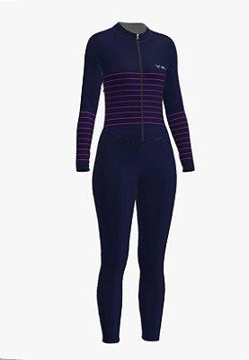 macaquinho calça ciclismo feminino manga longa mermaid ref 1180 m21
