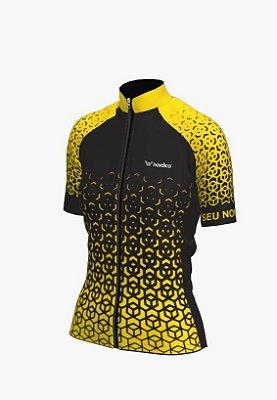 camisa ciclismo feminino nordico nitro personalizado amarelo  ref 1348 c1