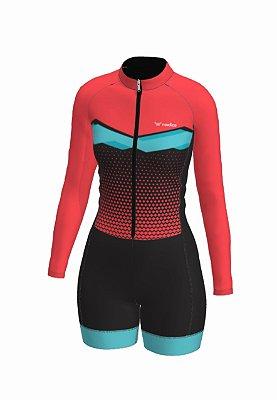 macaquinho ciclismo feminino manga longa janaina ref 1066 m18