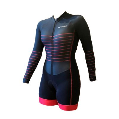 macaquinho ciclismo feminino manga longa mermaid ref 1180 m10