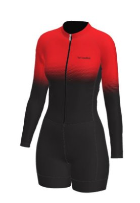 macaquinho ciclismo feminino manga longa setavermelha ref 1017 m18