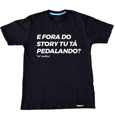 Camiseta Nordico e fora dos Stories você esta pedalando ?