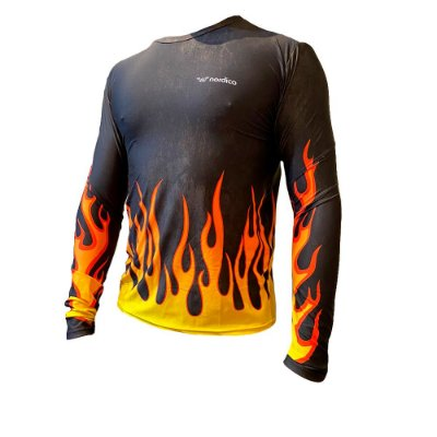 Camisa manga longa segunda pele proteção uv nordico rock fire 1359