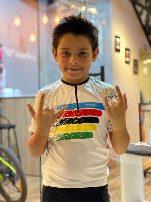 camisa ciclismo infantil guns roses ref 1369 c54