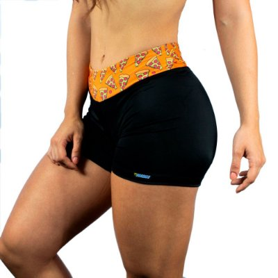 Shorts feminino pizza