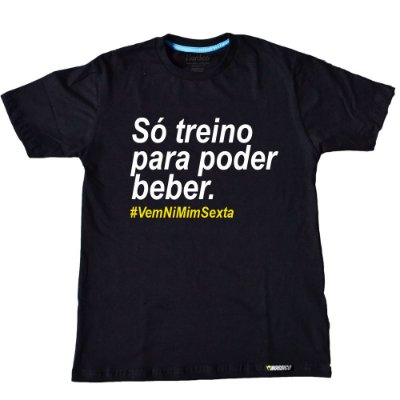 camiseta nordico Só treino para poder beber