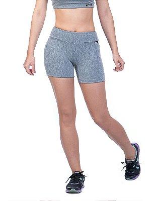 Shorts feminino cinza mescla