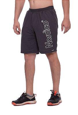Shorts nordico masculino malha Nordico cor chumbo
