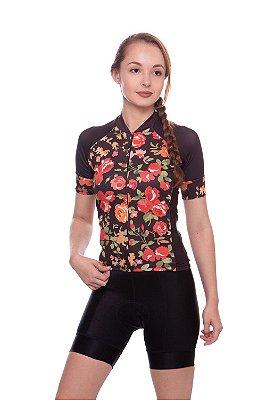 camisa nordico feminina CICLISMO flowers