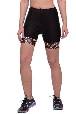 bermuda nordico shorts feminino ciclismo skull