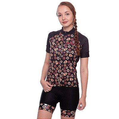 camisa nordico CICLISMO caveira girl mexicana ref 1055