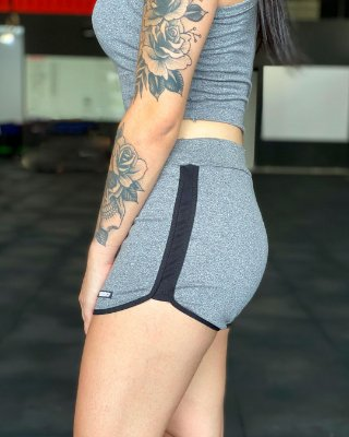 Shorts nordico feminino punho basic liso