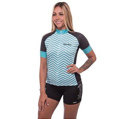 camisa feminina nordico ciclismo marine