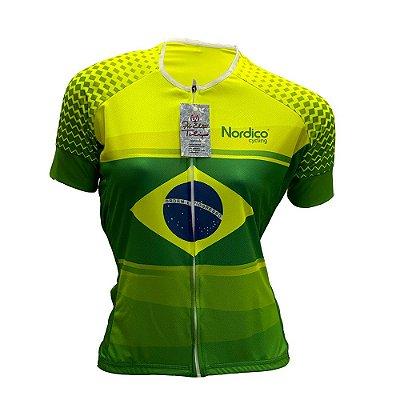 camisa feminina nordico ciclismo Brasil 1125
