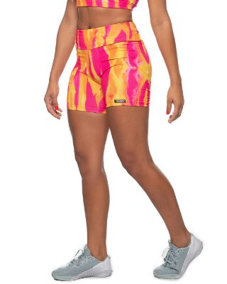 shorts nordico feminino tie Living Coral