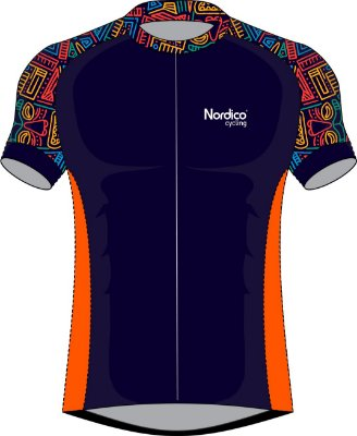 CAMISA ciclismo NORDICO CICLISMO ABSTRACT ref 1019
