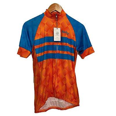 camisa ciclismo nordico orange