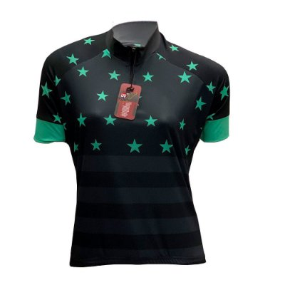 camisa feminina ciclismo nordico estrela noite