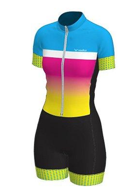 macaquinho ciclismo feminino nordico over the rainbow ref 1048 m12
