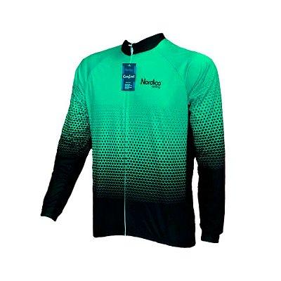 camisa ciclismo manga longa nordico agressive mint ref 1173