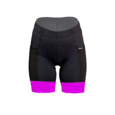 bermuda feminino ciclismo nordico com bolso barra pink ref 50