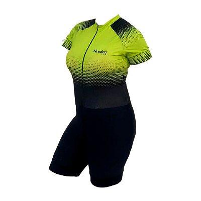 macaquinho ciclismo feminino nordico setaverde ref 1141