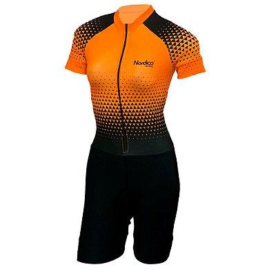 macaquinho ciclismo feminino nordico setalaranja ref 1034