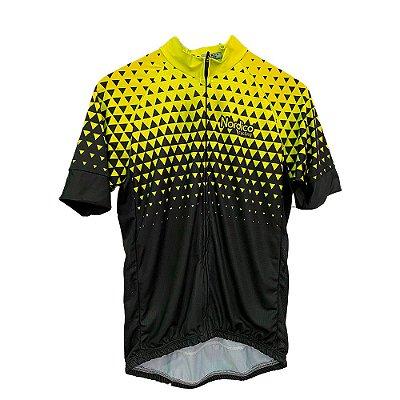camisa ciclismo nordico seta amarela ref 1050