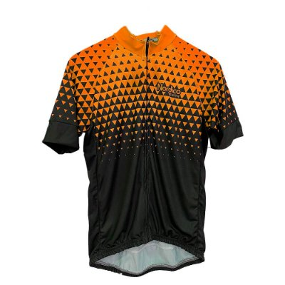 camisa ciclismo nordico seta laranja