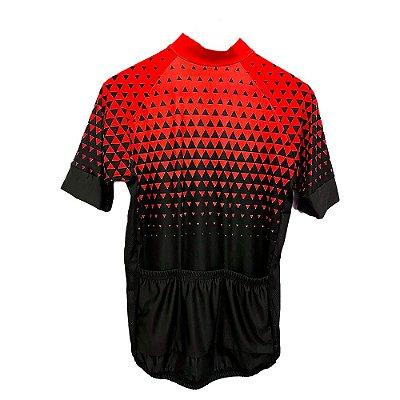 camisa ciclismo nordico seta vermelha