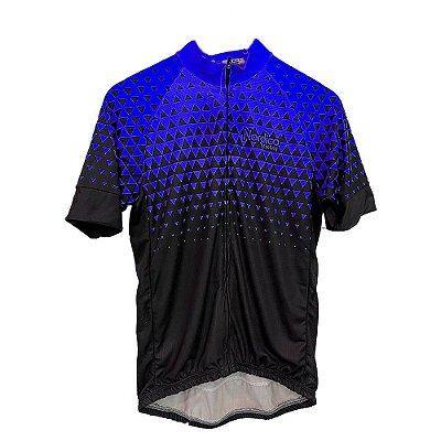 camisa ciclismo nordico seta azul ref 1030