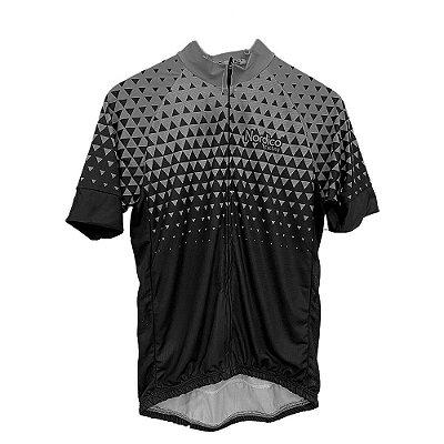 camisa ciclismo nordico seta cinza